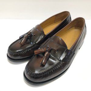 Cole Haan Brown Leather Pinch Tassel Loafers 8E